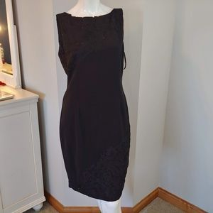 NWT Womens 12 Tahari dress sleeveless black lace